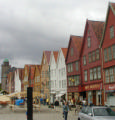 Bergen German quarter and tower