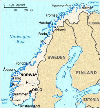 Norway Map Content - Norway map hamar