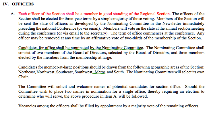 NBS Section Notices